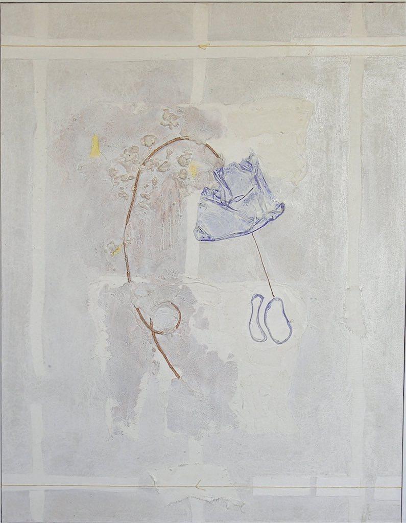 Bianco, 1999, preparazione materica e olio su tela, cm. 70 x 90
