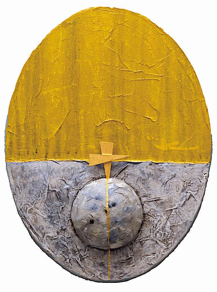 E verrà il tempo, 2004, tecnica mista su tela, cm. 40x30