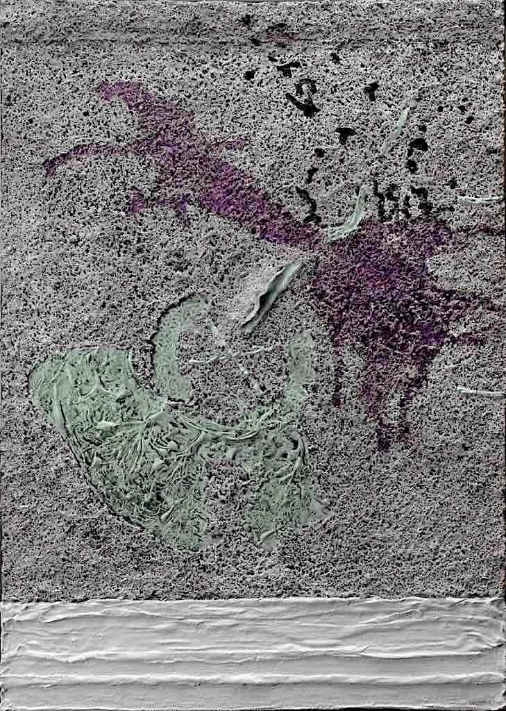 La melodia del ghiaccio, 2007, tecnica mista su tela, cm.70x50x4,5