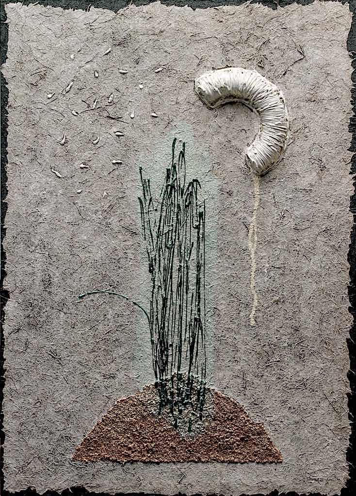 Memoria di luce/Notte di stelle, 2007, tecnica mista su tela, cm.70x50x4,5
