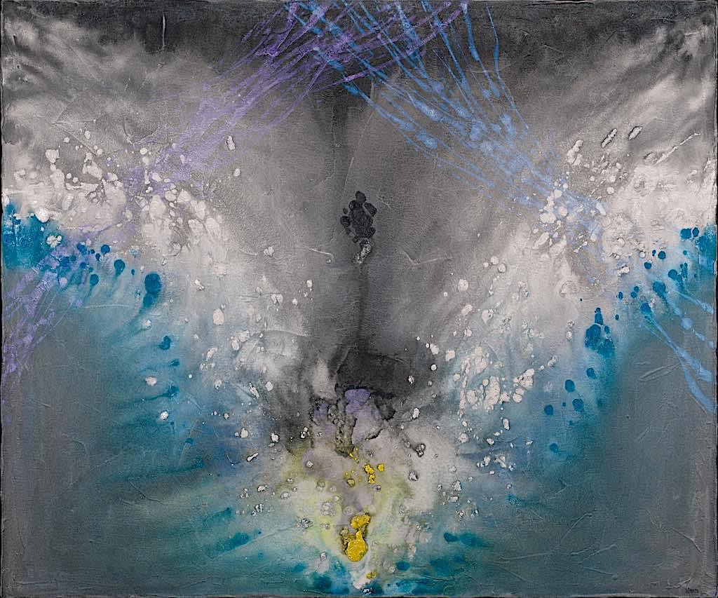 Angelo metropolitano/evoluzione, 2007, tecnica mista su tela, cm. 100x120x4,5