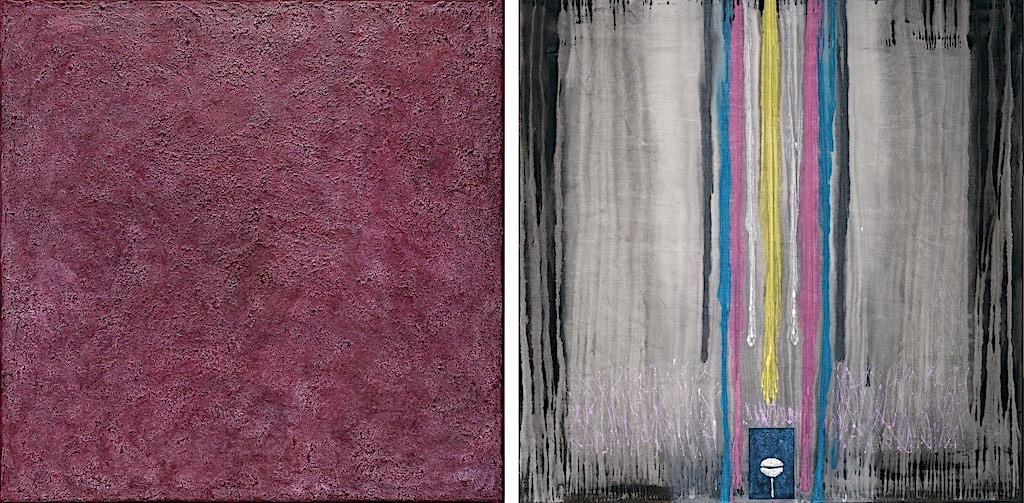 Il canto delle sirene, 2008, tecnica mista su tela, dittico, cm. 150x300x4,5
