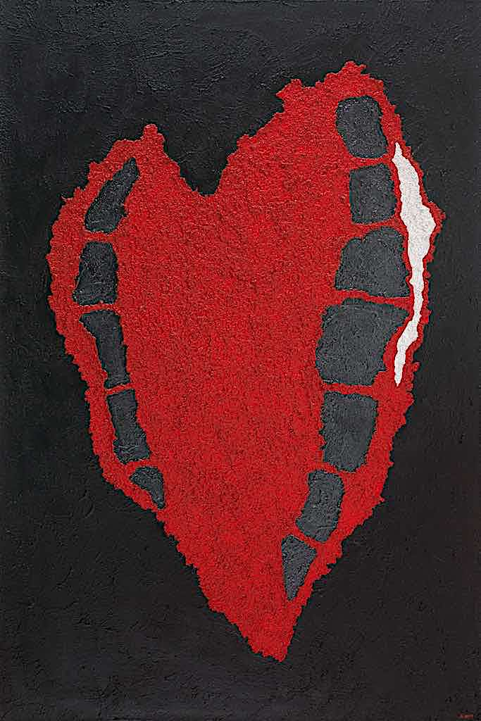 Impronte/La forma e la sua memoria (B7), 2010, tecnica mista su tela, cm. 150x100x4,5