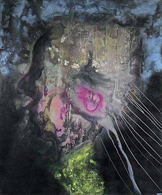 An open mind, 2014, tecnica mista su tela, cm. 120x100x4,5