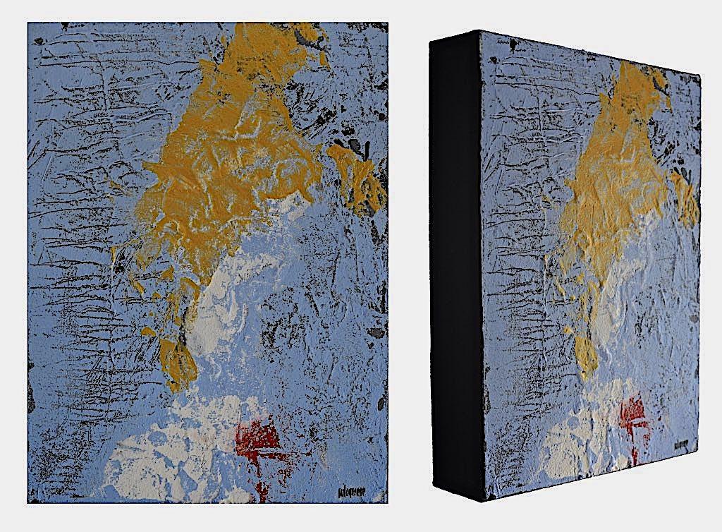 Tértia die, 2015, tecnica mista su tela, cm. 40x30x7