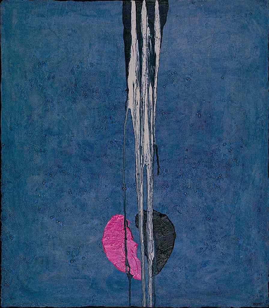 Il cuore dei santi (M), 2009, tecnica mista su tela, cm. 70x80x4,5