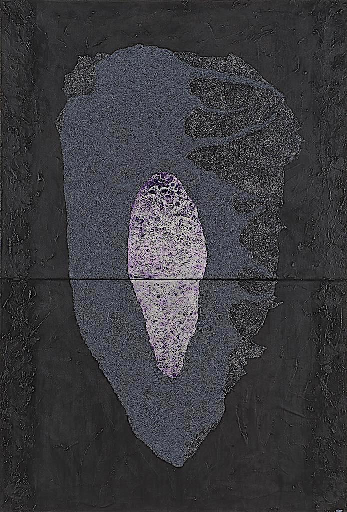Impronte/La forma e la sua memoria (B4), 2009, tecnica mista su tela, cm. 220x150x4,5