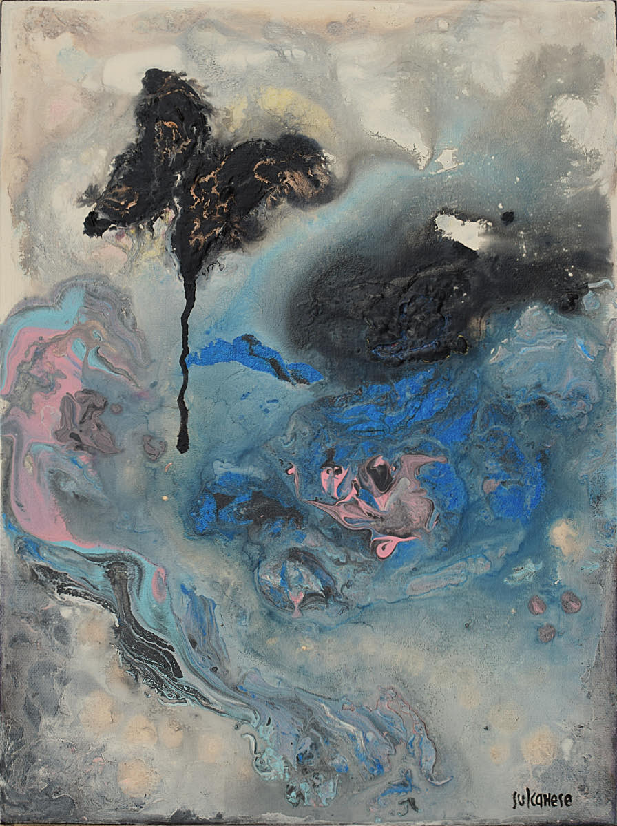 Piccole storie di farfalle (Il ritorno), 2021, tecnica mista su tela, cm. 40x30x4,5